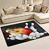 Naanle Sport Area Rug 2'x3′, Abstract Bowling Ball Polyester Area Rug Mat for Living Dining Dorm Room Bedroom Home Decorative Review