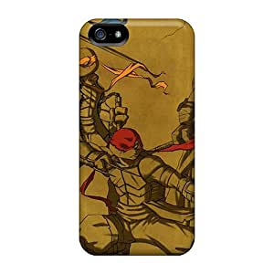 Hard Protect Phone Cases For Iphone 5/5s (bXR12701hdGx) Provide Private Custom High-definition Ninja Turtles Pattern