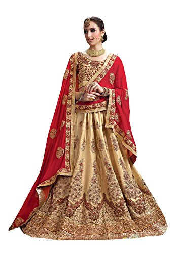 PCC Womens Silk Fabric Brown Pretty Circular Lehenga Style 84022