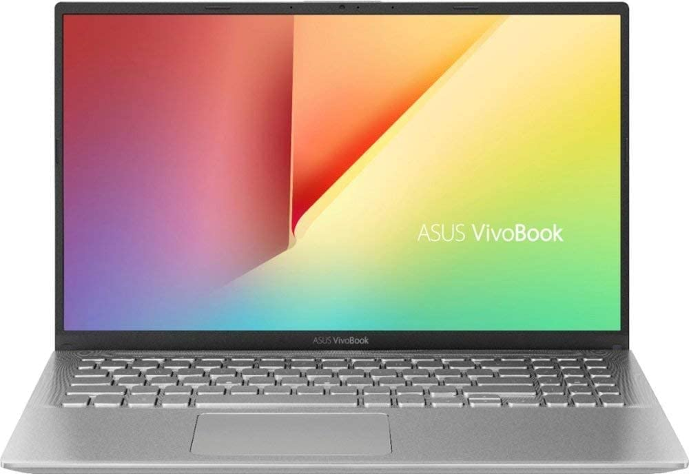 "ASUS VivoBook 15 15.6"" FHD Laptop Computer, AMD Ryzen 5 3500U Quad-Core Up to 3.7GHz (Beats i7-7500U), 8GB DDR4 RAM, 512GB PCIe SSD, Webcam, Online Class Ready, Silver, Windows 10, iPuzzle Mousepad"