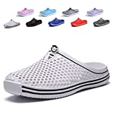 Peregrine Mesh Breathable Sandal Quick-Drying Slippers Beach Slippers Non-Slip Garden Sandals Clogs Mules Shoes White 42