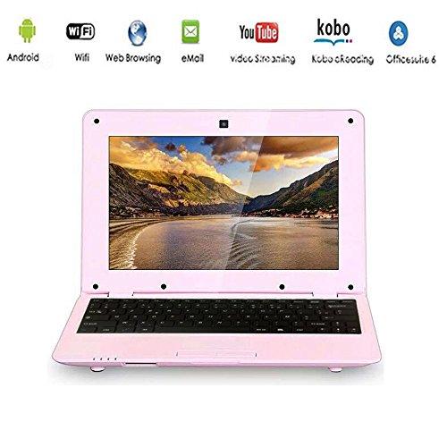 G-Anica Ordenador portátil de 10.1″(WiFi, 1.5GHz 512 MB de RAM, 4 GB de Disco Duro) Android 4.4.2 Netbook Color Rosa