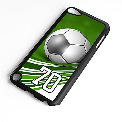 Generation 6 Soccer Ball Green Swirl Stripes Any Custom Jersey Number 70 Black Plastic (Swirl Soccer Goalie Jersey)