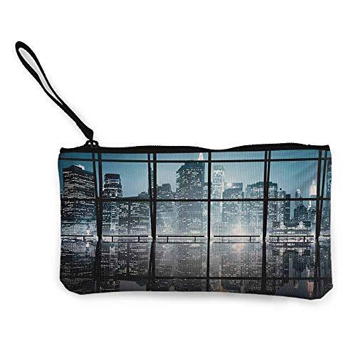 Small Canvas Purse,Multipurpose Canvas Zipper Tool Bag,85 X 45 Inches