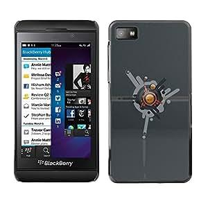 Caucho caso de Shell duro de la cubierta de accesorios de protección BY RAYDREAMMM - Blackberry Z10 - Abstract