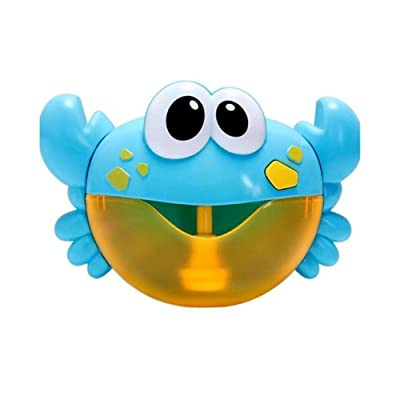 JiaJa Baby Bath Water Play Games Toys Kids Bathroom Bathtub Electric Bubble Blower Maker Baby Indoor Outdoor Play Toys Bubble Machine,23x16cm: Toys & Games