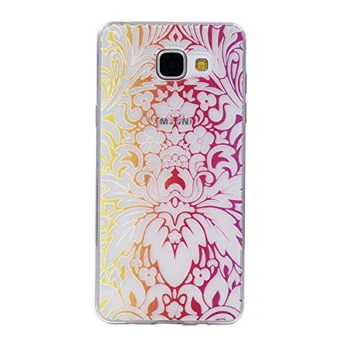 Qiaogle Teléfono Caso - Funda de TPU silicona Carcasa Case Cover para Apple iPhone 7 (4.7 Pulgadas) - DD10 / Retro Tribal Rayas DD11 / Phoenix Flor