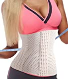 garment for tummy tucks - Gotoly Waist Trainer Corset for Weight Loss Sport Workout Tummy Fat Burner (2XL Fits 37.7-40.9 inch Waistline, Beige)