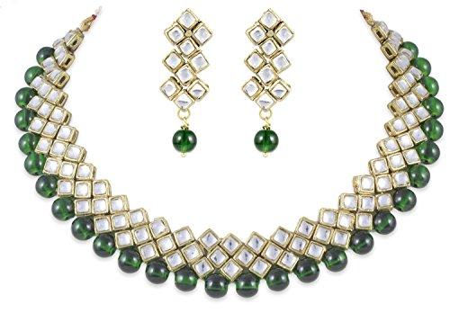 Shining Diva Kundan Choker Traditional Jewellery Set / Necklace Set with Earrings for Girls / Women