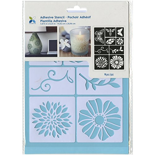 Momenta Adhesive Stencil  6  By 8   Flowers And Bugs