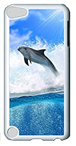 iPod Touch 5 Case,iPod Touch 5 Cases - Dolphin Wave PC Custom Design iPod Touch 5 Case Cover - Polycarbonate¨CWhite