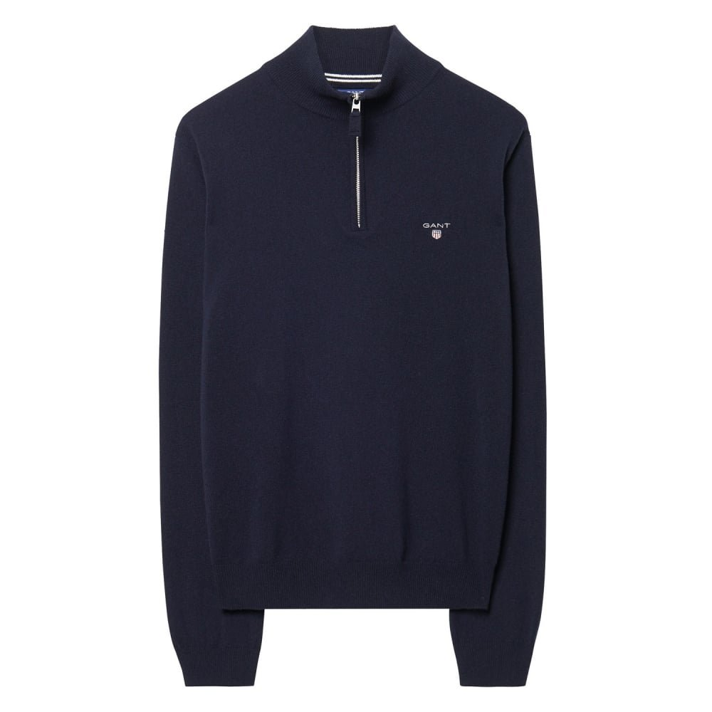 GANT Super Fine Lambswool Mens Zip XL Marine
