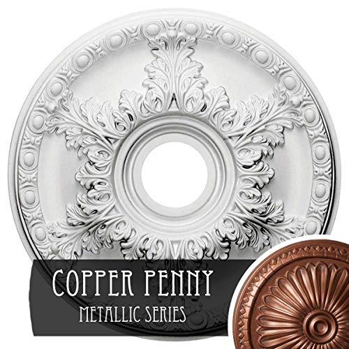 Ekena Millwork CM18GACPS Granada Ceiling Medallion, Copper Penny