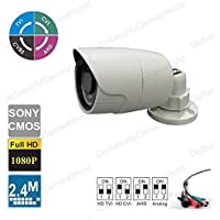 HD 2.4MP Security Bullet Camera 18IR 2.8mm Wide angle Lens In/Outdoor