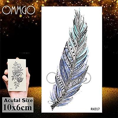 5Pcs- diamante geométrico tatuaje para las mujeres de los hombres ...