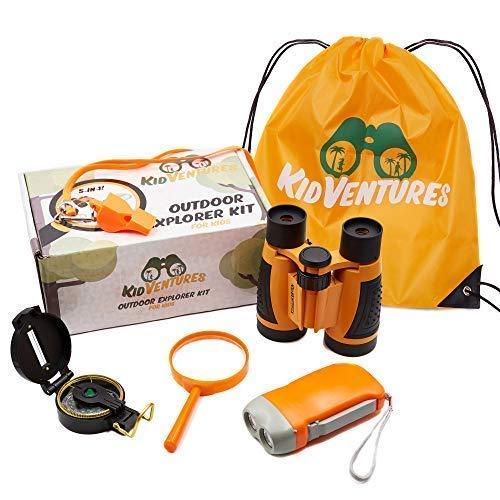KidVentures Outdoor Explorer Kit for Kids - Toy Binoculars, Flashlight for Kids,...