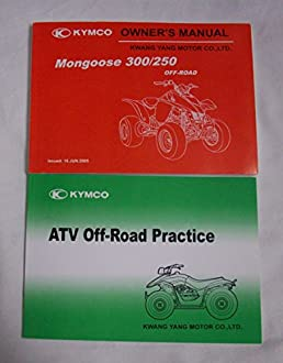 2005 kymco mongoose 300 250 owners manual kymco amazon com books rh amazon com mongoose owner's manual mongoose scooter owners manual