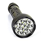 Super Bright Underwater 15000lm 12x Cree XML T6 LED Diving Flashlight Outdoor Flashlight Tactical Flashlight Torch Searchlight Lamp Hunting Outdoors Torch Black