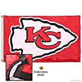 WinCraft Kansas City Chiefs Embroidered Nylon Flag