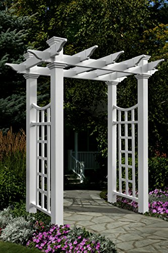 Fairfield Deluxe 58''W x 92''H Vinyl Arbor by New England Arbors