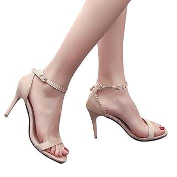 ce1d9fb3f5e3 Baigoods Hot Sale! Fashion Women Super High Ladies Sandals Ankle High Heels  Elastic And Block