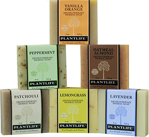 Soap Herbal (Plantlife Top 6 Natural Aromatherapy Herbal Soaps Made with 100% Pure Essential Oil)