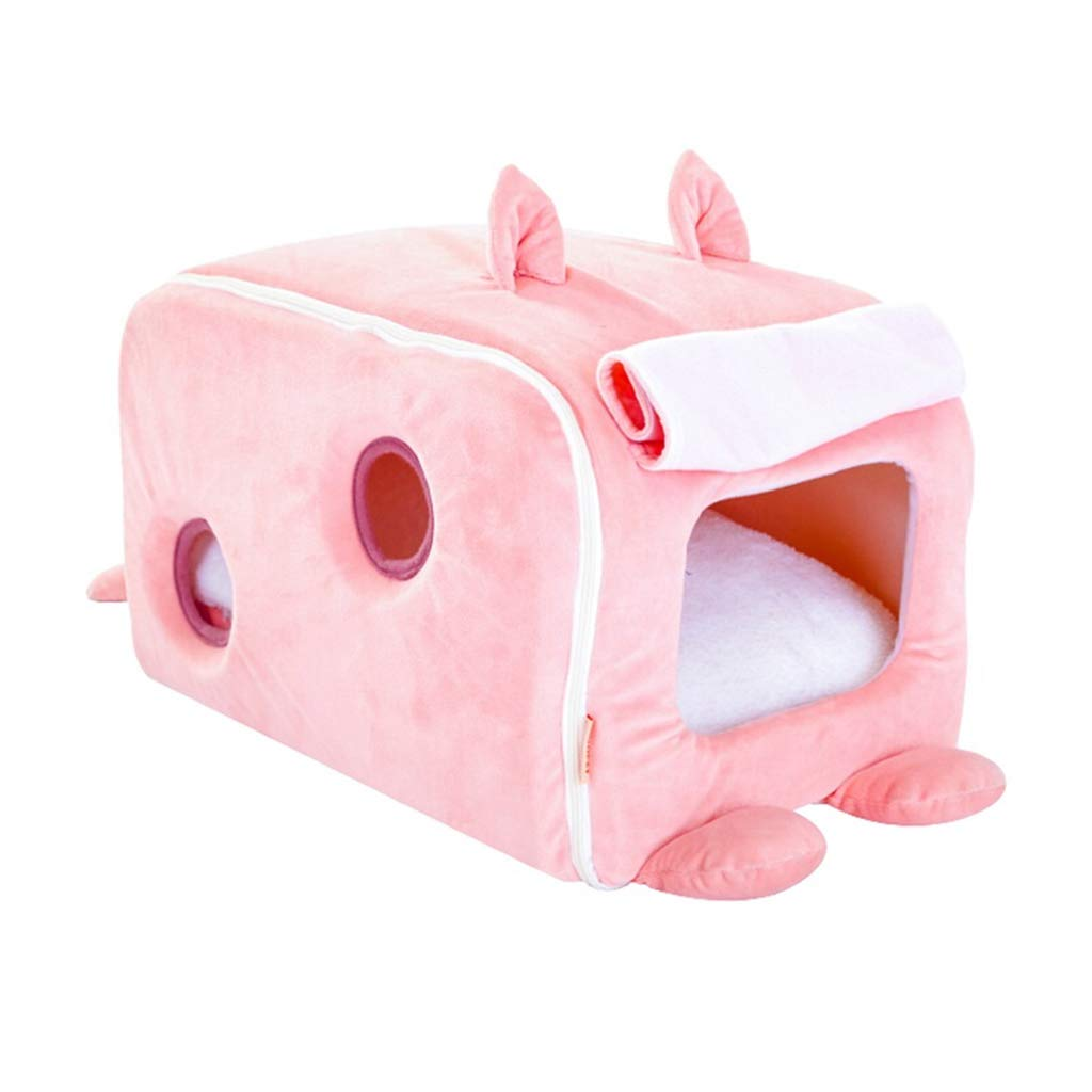 40cm26cm25cm DSADDSD Pet Bed Cat Litter Kennel Keep Warm Closed Four Seasons Comfortable And Washable Sleeping Bag Tent Pet Supplies (Size   40cm26cm25cm)