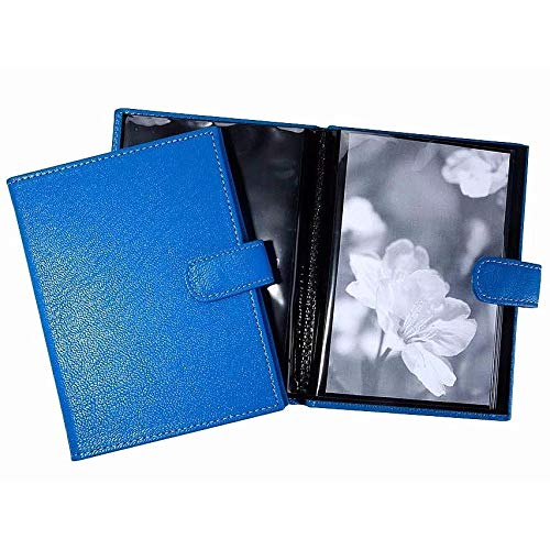 Bright-Blue Fine Leather Brag Book for 20 Prints by Graphic ImageTM - 4x6