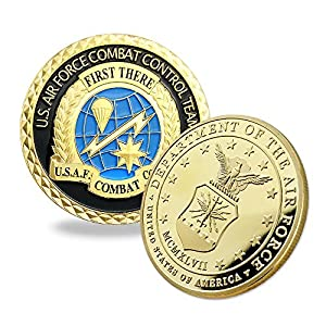 Indeep Air Force Challenge Coin USAF Combat Control Team Military Coin Veteran Gifts for Airman by Indeep