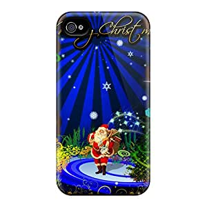 New Fashion Premium Tpu Case Cover For Iphone 4/4s - Merry Christmas