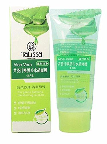 LuckyFine - Mascarilla exfoliante y limpiadora para cara, de aloe vera, para el acné