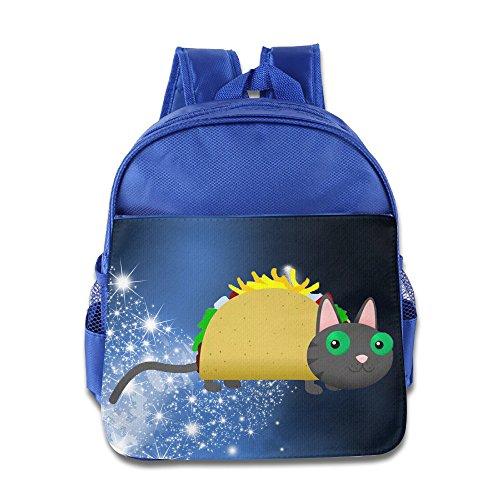 Tacocat An Animated Music Video Kids School RoyalBlue Backpack Bag