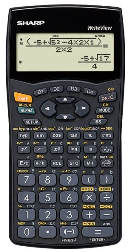 Sharp EL W535B WriteView Scientific Calculator