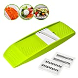 Vegetable Julienne Slicer, GIGRIN 3 in 1 Mandoline Slicer Handheld Vegetable Grater Shredder Professional for Cutting Food into Slices, Thick or Thin Juliennes, Save Your Time