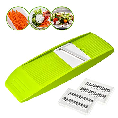 - Vegetable Julienne Slicer, GIGRIN 3 in 1 Mandoline Slicer Handheld Vegetable Grater Shredder Professional for Cutting Food into Slices, Thick or Thin Juliennes, Save Your Time