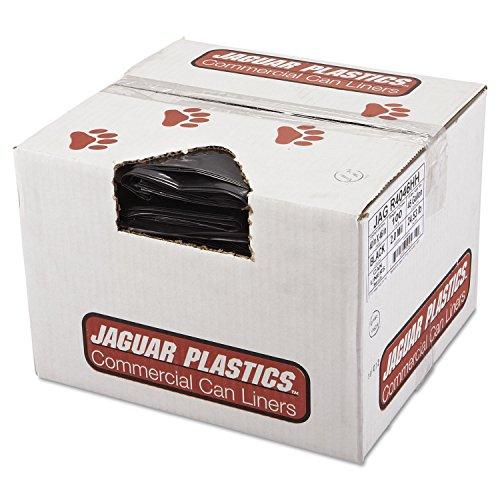 Jaguar Plastics R4046HH Repro Low-Density Can Liners, 2 Mil, 40 x 46, Black (Case of 100)