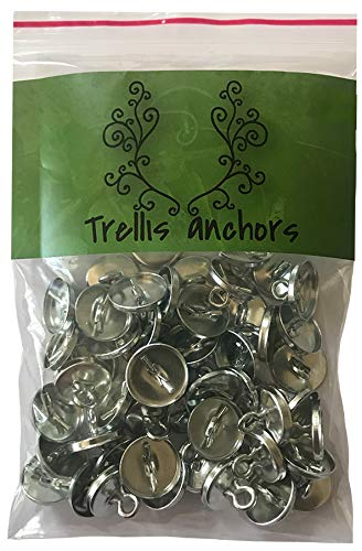 Plant Anchors - 100-Piece Plant Anchors Pack for Trellis, Lighting and Vine. Anchors Only
