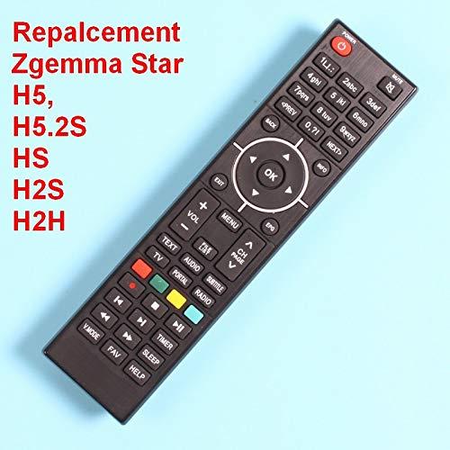Calvas Remote control of Zgemma Star HS /H2S /H2H /H5 /H5 2S Satellite  Receiver Combo, Directly use  - (Color: Black)