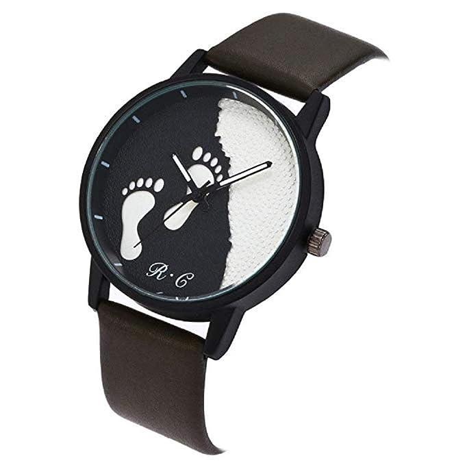 Reloj para Mujer,Scpink Moda Reloj de Cuarzo clásico Costura de la ...