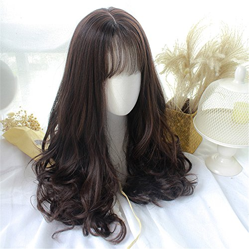 (Long Curly Wig Wavy Hair Heat Resistant Wig for Cosplay Party)