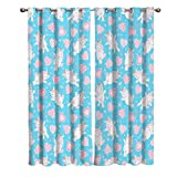 bathroom decorating ideas on a budget Blackout Window Kitchen Curtains Drapes, 2 Panels Set Window Treatment for Living Room/Bedroom/Office,Valentine's Day Friendship Romantic Unicorns Love Repeating Decorating Design, 55W by 39L inch