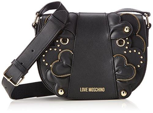 Love Moschino Borsa Vitello Smooth Nero - Borse Baguette Donna, (Black), 6x17x22 cm (B x H T)