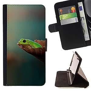 Momo Phone Case / Flip Funda de Cuero Case Cover - Vuoi sapere Pensate Pastel Green Forest - Samsung Galaxy E5 E500