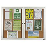 Quartet Enclosed Cork Indoor Bulletin Board, 4 x 3 Feet, Aluminum Frame (2364)