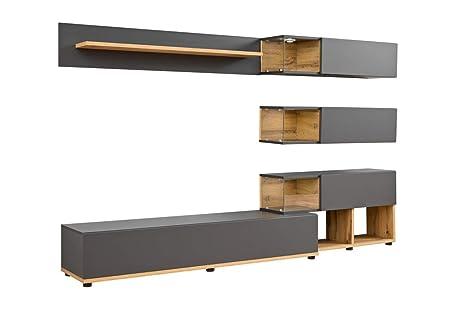 muebles bonitos - Mueble de salón Modelo Odin Color Gris y ...