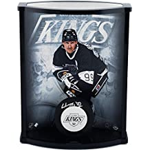 Wayne Gretzky Los Angeles Kings Autographed Logo Puck with Curved Display Case - Upper Deck - Fanatics Authentic Certified