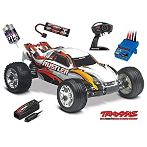 Traxxas Rustler 1/10 Scale 2WD Stadium Truck with TQ 2.4GHz Radio, White