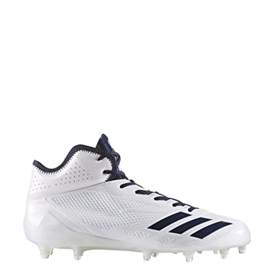 official photos 5e3ce f3ace adidas Adizero 5Star 6.0 Mid Cleat Mens Football 8.5 White-Collegiate Navy-Collegiate  Navy
