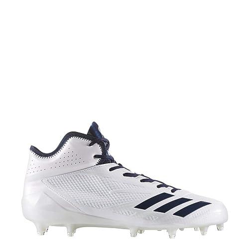 adidas Adizero 5Star 6.0 Mid Cleat Mens Football 8.5 White-Collegiate  Navy-Collegiate Navy 9c50c21a27e
