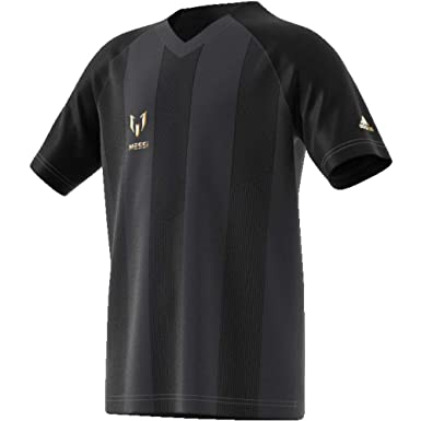 886efc375e9 adidas Messi Icon Junior Short Sleeve Training Top - Black-15-16 Years   Amazon.co.uk  Clothing